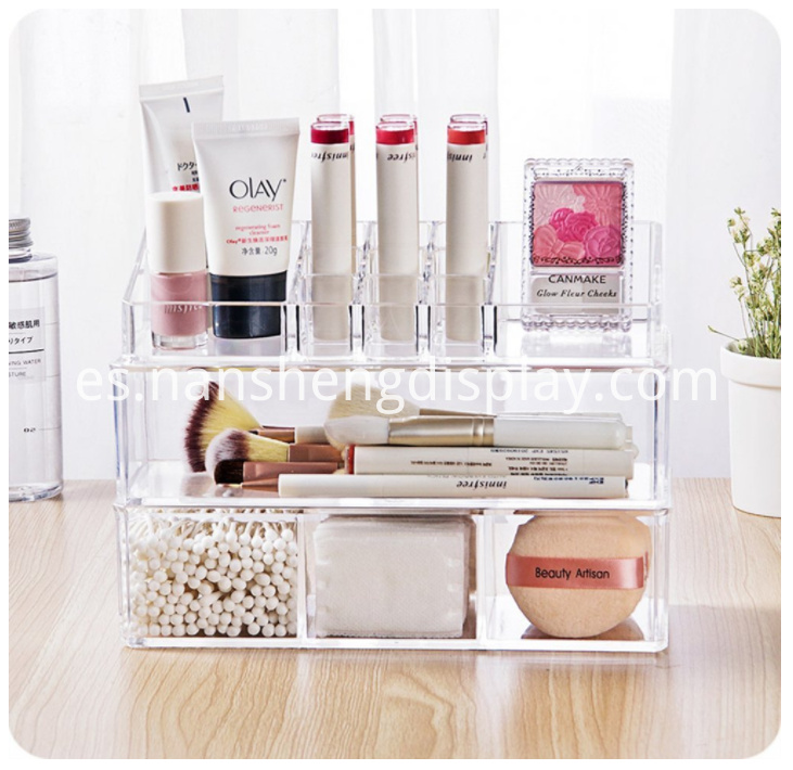 Clear Acrylic Lipstick Holder Makeup Brush Storage